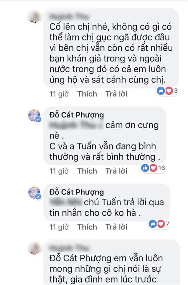 Phản ứng của Cát Phượng trước tin đồn về Kiều Minh Tuấn - An Nguy