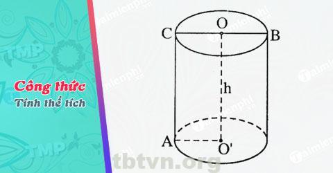 Cách để tính thể tích hình trụ