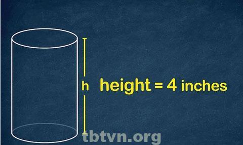 Công thức tính chiều cao hình trụ