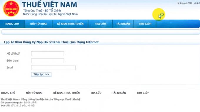Hướng dẫn đăng ký tài khoản nhận tờ khai trên trang nhantokhai.gdt.gov.vn